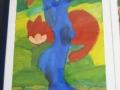 """Nach Franz Marc """"Katze hinterm Baum"""""""