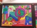 Freies Malen nach Hundertwasser